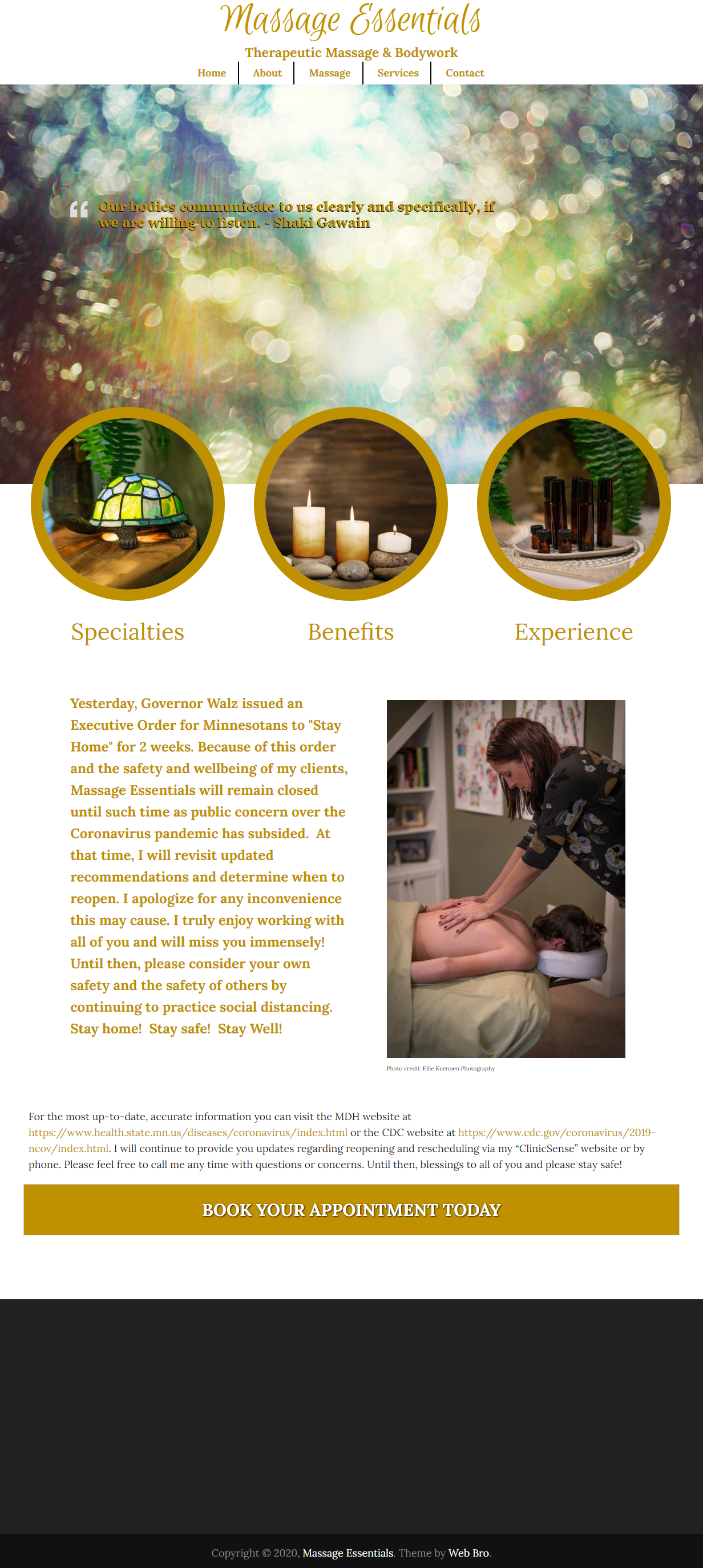 Massage Essentials - Therapeutic Massage & Bodywork